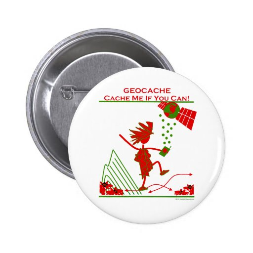 Geocache Gift - Cache me if you can! Gifts & T's 2 Inch Round Button