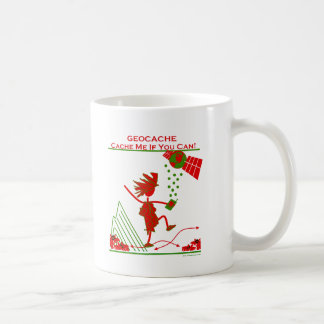 Geocache Gift - Cache me if you can! Gifts & T's Classic White Coffee Mug