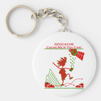 Geocache Gift - Cache me if you can! Gifts & T's Keychain
