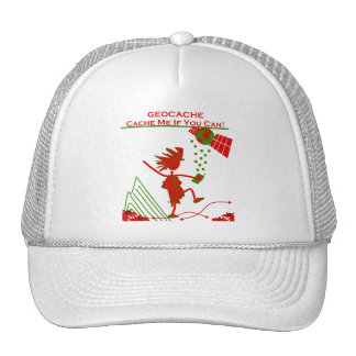 Geocache Gift - Cache me if you can! Gifts & T's Trucker Hat