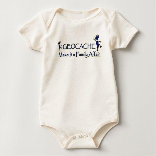 Geocache - hágale un asunto de familia body para bebé