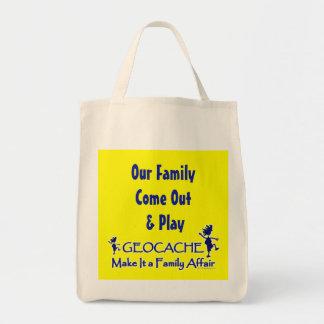 Geocache - hágale un asunto de familia bolsa