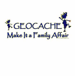 Geocache - hágale un asunto de familia esculturas fotográficas