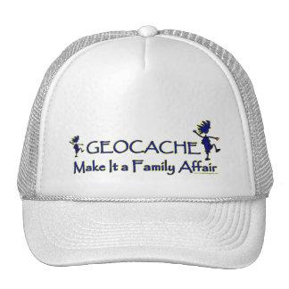 Geocache - hágale un asunto de familia gorras