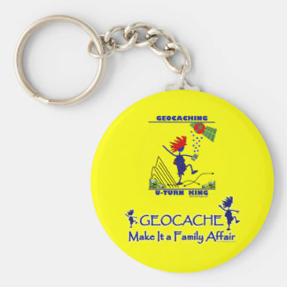 Geocache - hágale un asunto de familia llavero redondo tipo pin