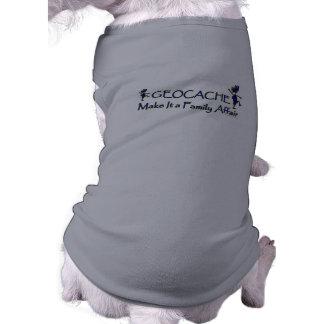 Geocache - hágale un asunto de familia camisetas de mascota