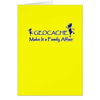 Geocache - hágale un asunto de familia felicitaciones