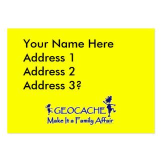 Geocache - hágale un asunto de familia tarjetas de visita grandes