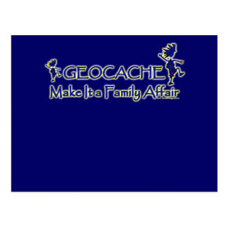 Geocache - hágale un asunto de familia postal