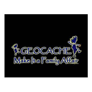 Geocache - hágale un asunto de familia tarjetas postales