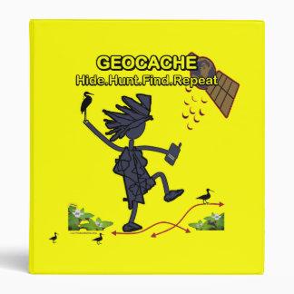 Geocache Hide Hunt Find III Vinyl Binder