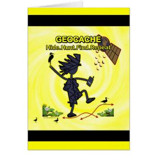 Geocache Hide Hunt Find III Card