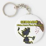 Geocache Hide Hunt Find III Keychain