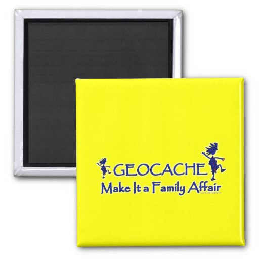 Geocache - Make It a Family Affair 2 Inch Square Magnet