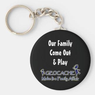 Geocache - Make It a Family Affair Basic Round Button Keychain