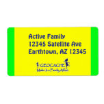 Geocache - Make It a Family Affair Custom Shipping Labels