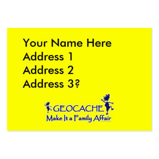 Geocache - Make It a Family Affair Large Business Card