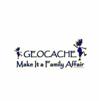 Geocache - Make It a Family Affair Photo Statuette