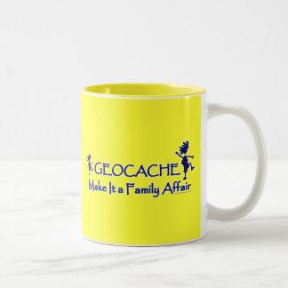 Geocache - Make It a Family Affair Two-Tone Coffee Mug