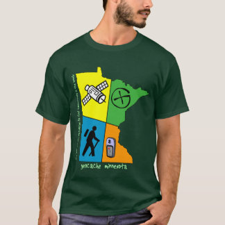 Geocache Minnesota 4-Colors Shirt
