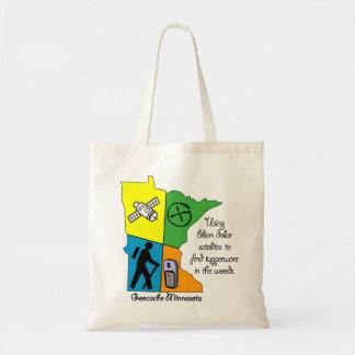 Geocache Minnesota CTC L.I.F.E. Tote Canvas Bags