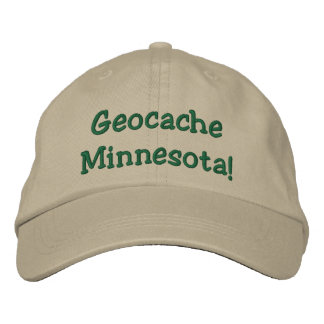 Geocache Minnesota Embroidered Hat