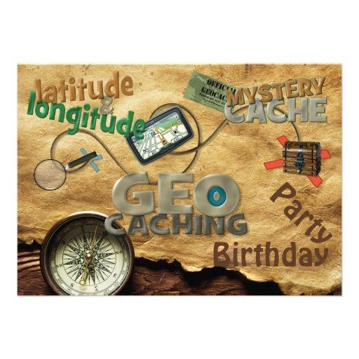 Geocache Party Invitation - Customize Personalized Invites