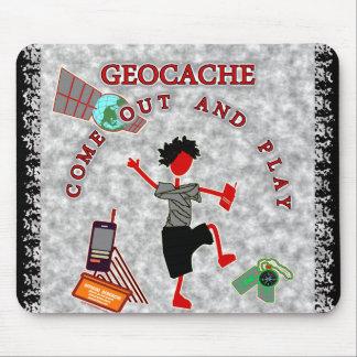 Geocache sale y juega alfombrilla de raton