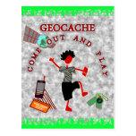 Geocache sale y juega postales