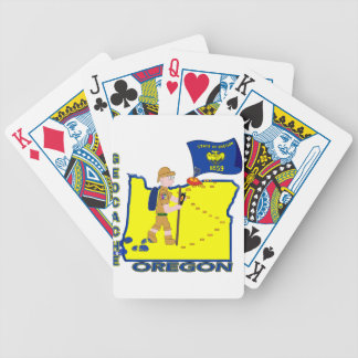 GEOCACHE STATE OREGON BICYCLE PLAYING CARDS