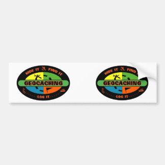 Geocache survivor car bumper sticker