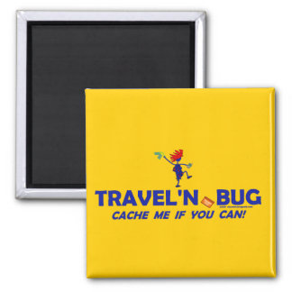 Geocache Travel'n Bug 2 Inch Square Magnet