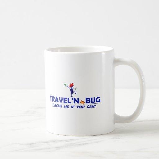 Geocache Travel'n Bug Classic White Coffee Mug