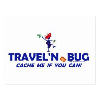 Geocache Travel'n Bug Postcard