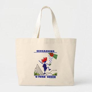 Geocache U Turn Queen Tote Bag