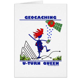 Geocache U Turn Queen Card
