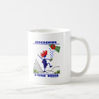 Geocache U Turn Queen Coffee Mug