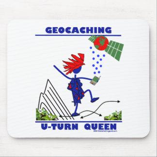 Geocache U Turn Queen Mouse Pad