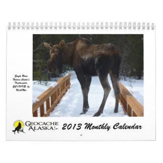 GeocacheAlaska 2013 Monthly Calendar