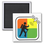 GeoCacher 2 Inch Square Magnet