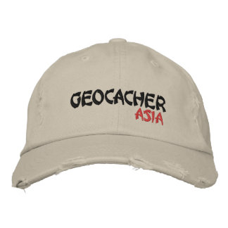 Geocacher Asia Embroidered Hats