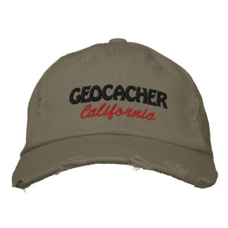 Geocacher California Embroidered Baseball Hat