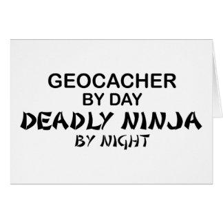 Geocacher Deadly Ninja by Night Card