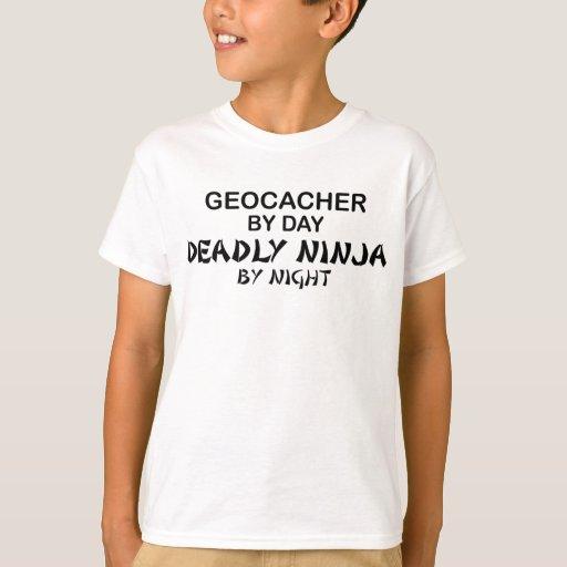 Geocacher Deadly Ninja by Night T-Shirt