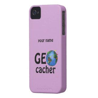 Geocacher Earth Geocaching Custom iphone 4 Case