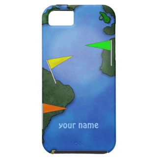 Geocacher Earth Geocaching Custom Name iphone Case