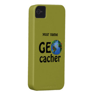 Geocacher Earth Geocaching Name iphone 4 Case