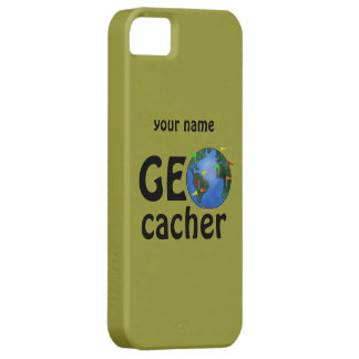 Geocacher Earth Geocaching Name iphone 5 Case