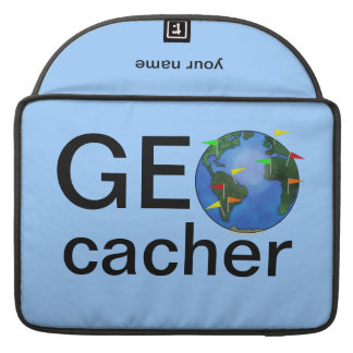 Geocacher Earth Geocaching Name Macbook Case Sleeves For MacBook Pro