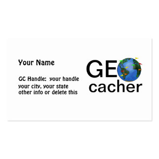 Geocacher Earth Geocaching Signature or Handle Business Card